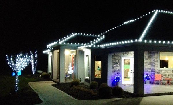 Christmas Lights Landscaping Patios And Retaining
